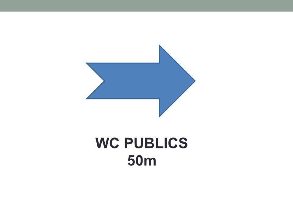 WC PUBLICS 50m