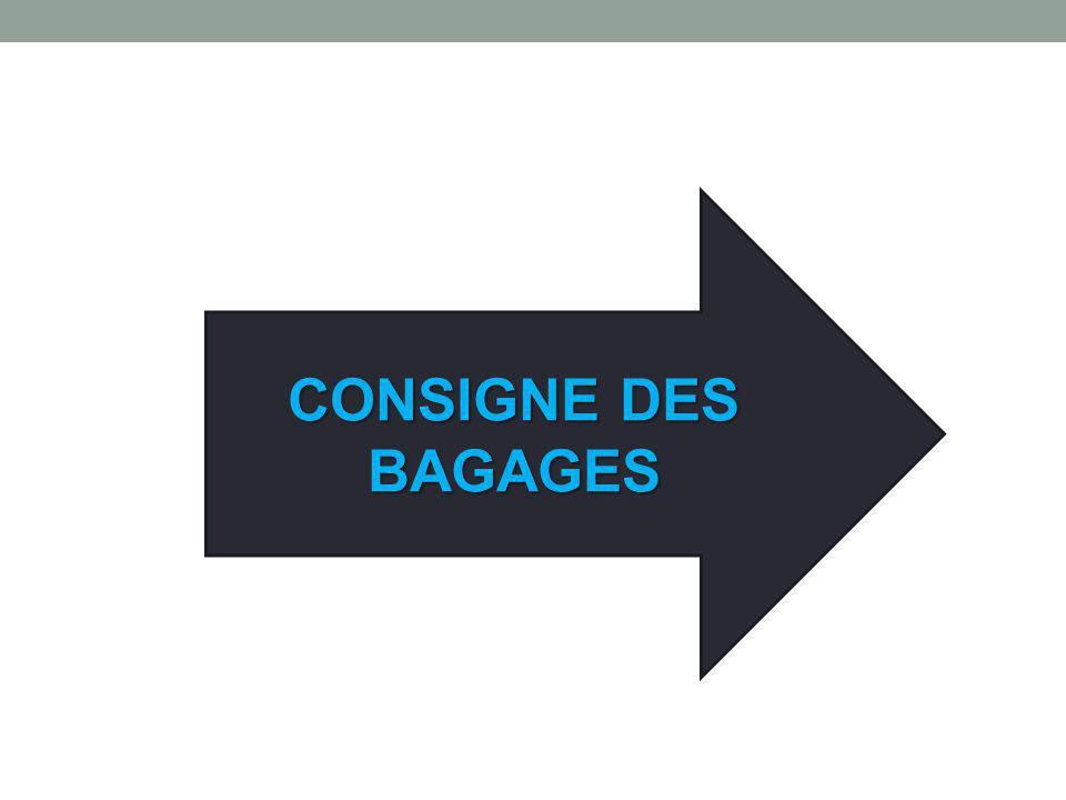 CONSIGNE DES BAGAGES