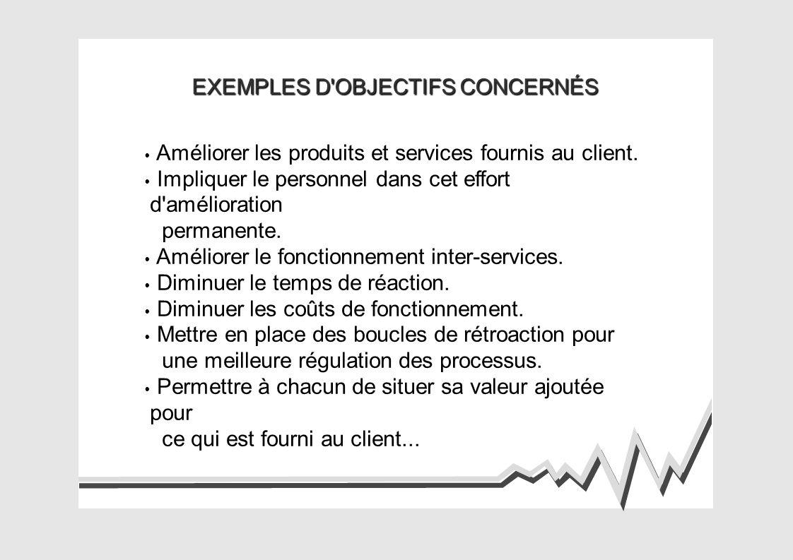 EXEMPLES D OBJECTIFS CONCERNÉS