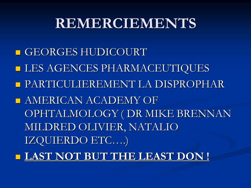 REMERCIEMENTS GEORGES HUDICOURT LES AGENCES PHARMACEUTIQUES