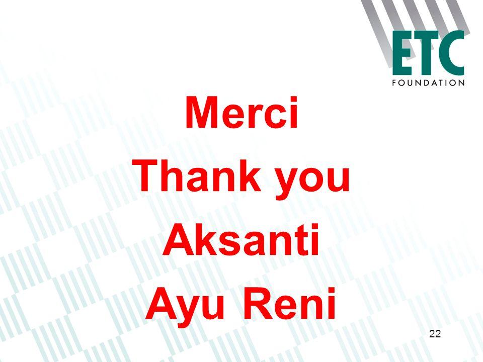 Merci Thank you Aksanti Ayu Reni