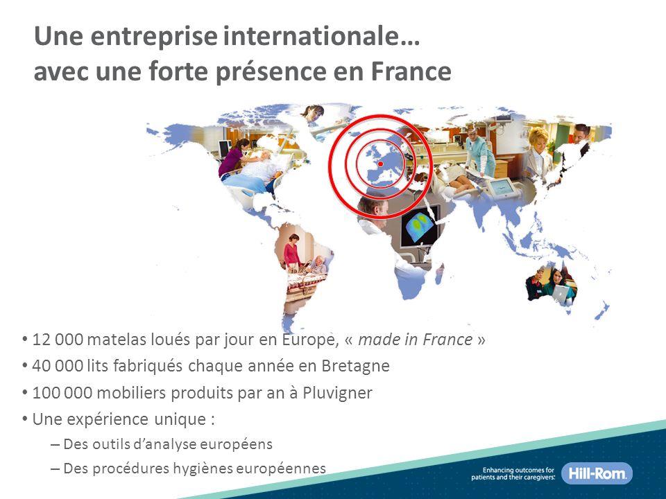 Une entreprise internationale… avec une forte présence en France
