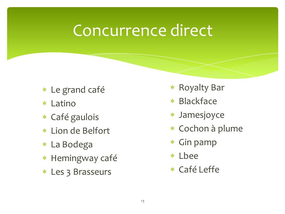 Concurrence direct Royalty Bar Le grand café Blackface Latino