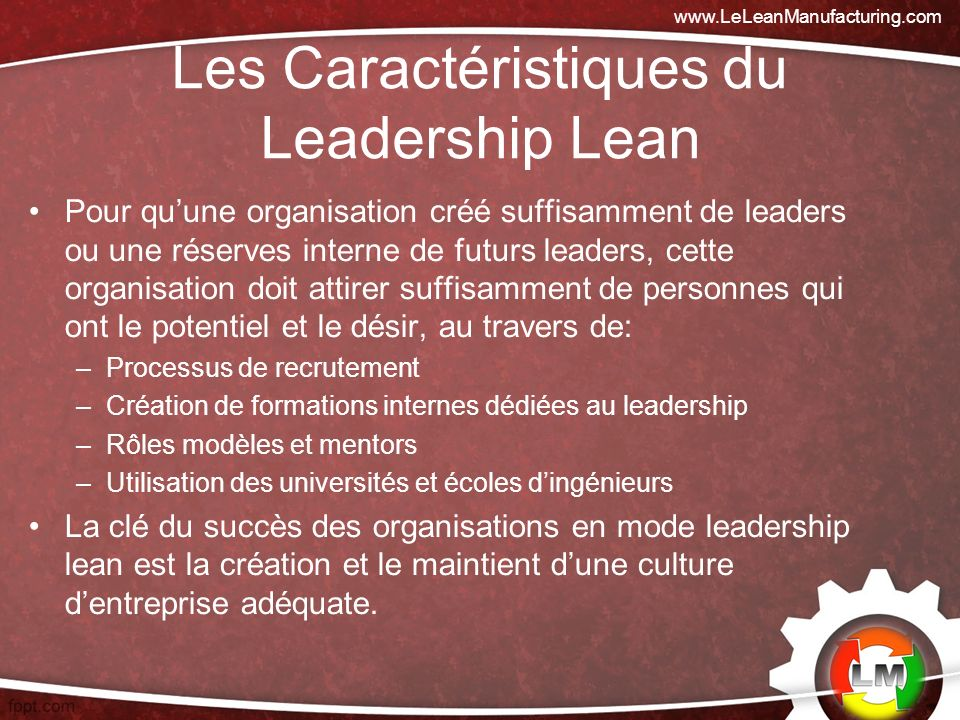 Les Caractéristiques du Leadership Lean