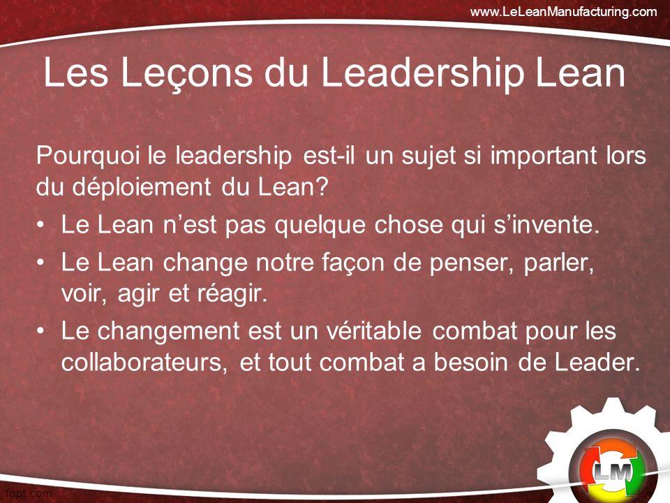 Les Leçons du Leadership Lean