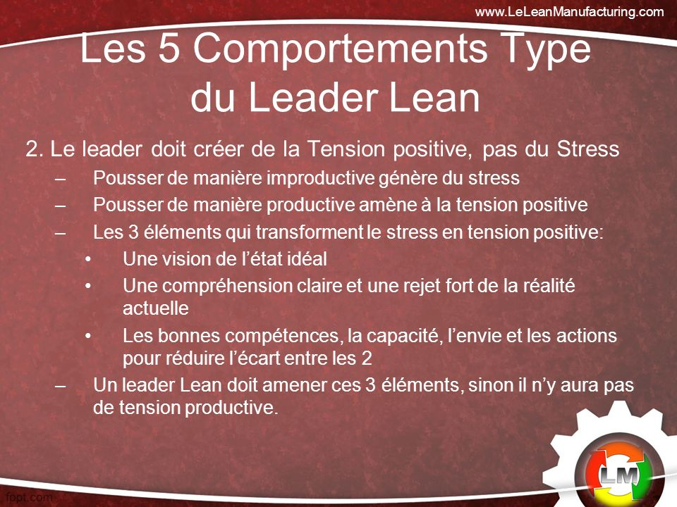 Les 5 Comportements Type du Leader Lean