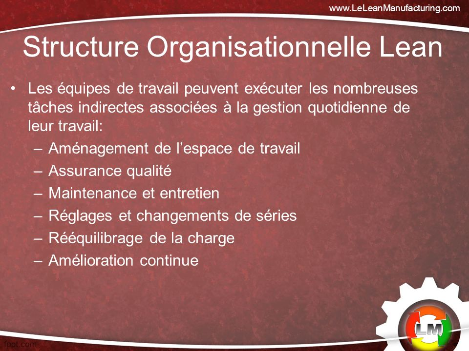 Structure Organisationnelle Lean