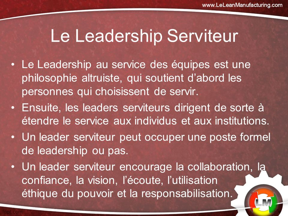 Le Leadership Serviteur