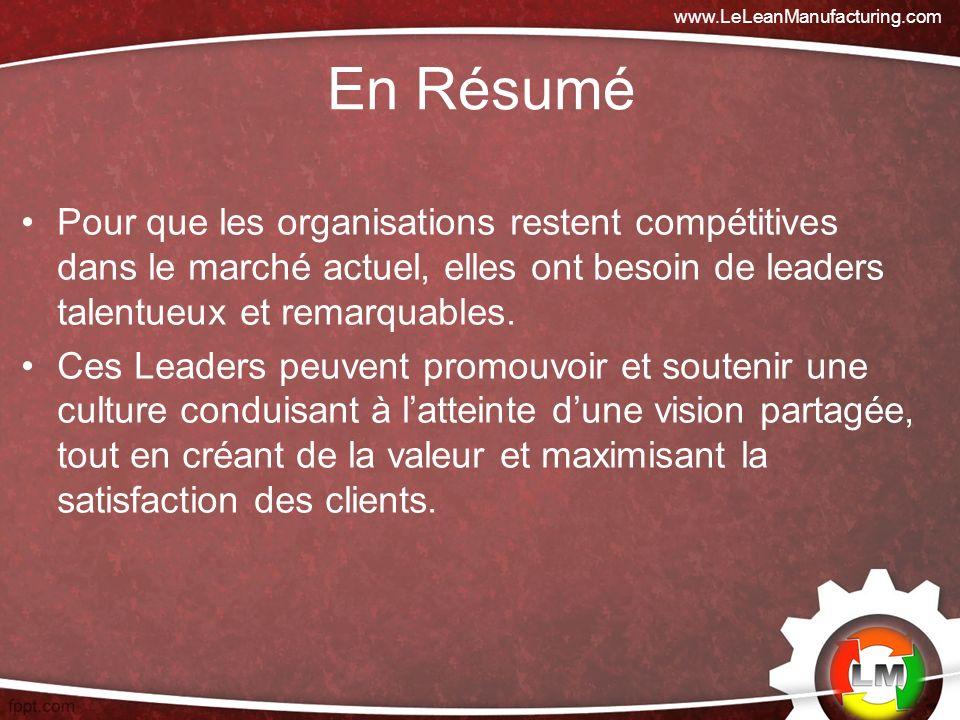 www.LeLeanManufacturing.com En Résumé.