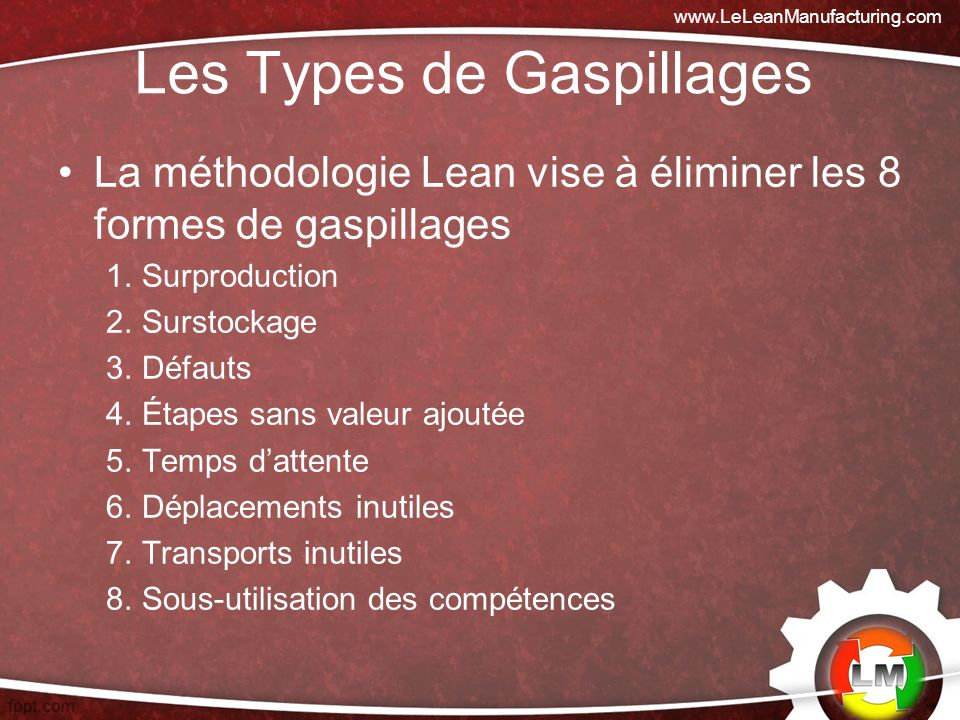 Les Types de Gaspillages