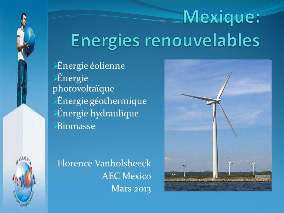 Mexique: Energies renouvelables