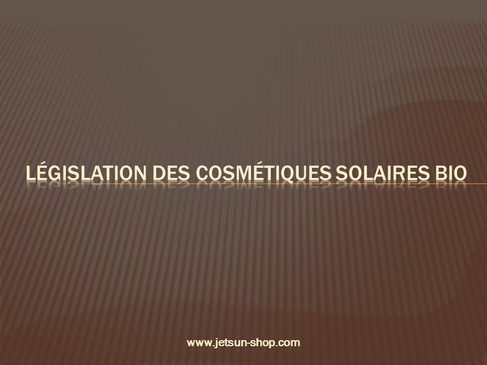 Législation des cosmétiques solaires bio