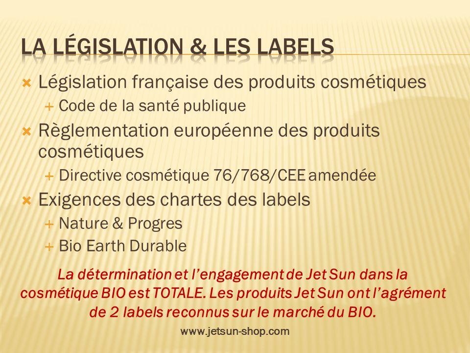 La législation & les labels