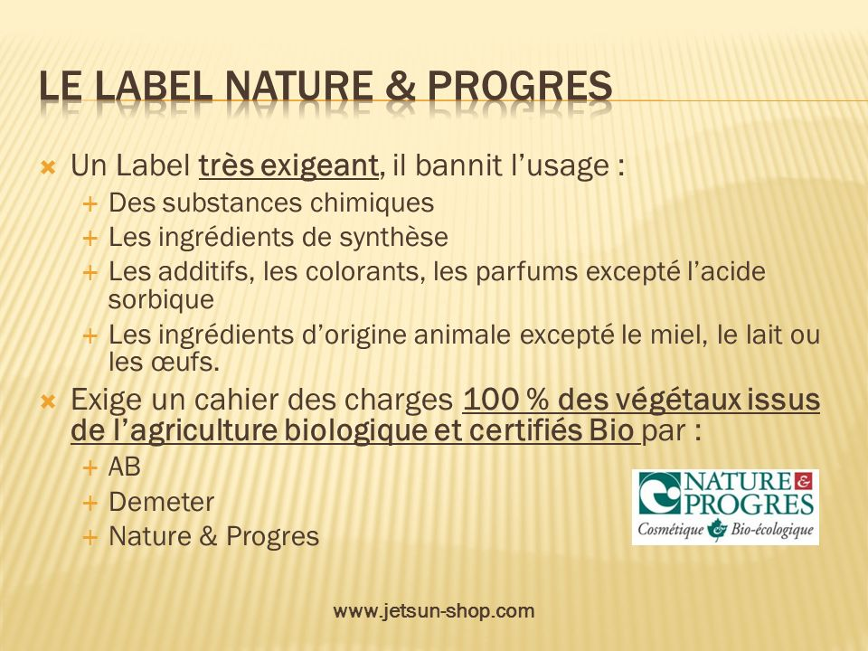 Le label nature & progres