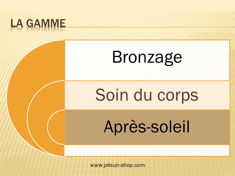 La gamme Bronzage Soin du corps Après-soleil www.jetsun-shop.com