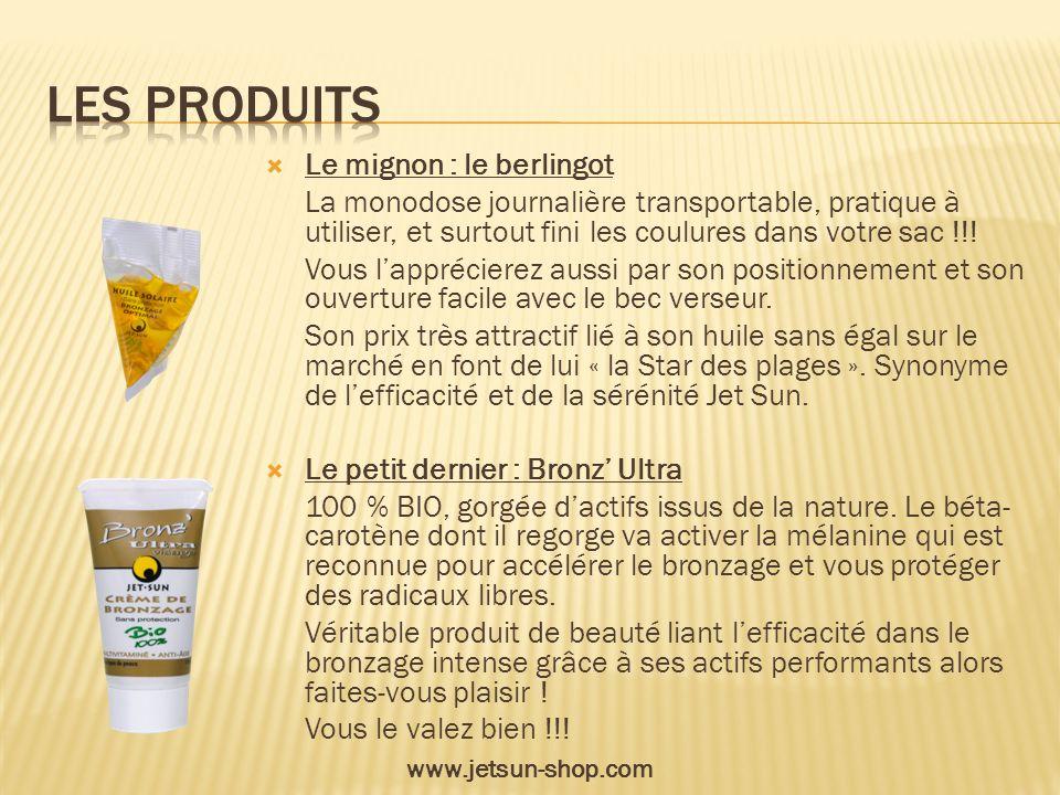 Les produits Le mignon : le berlingot