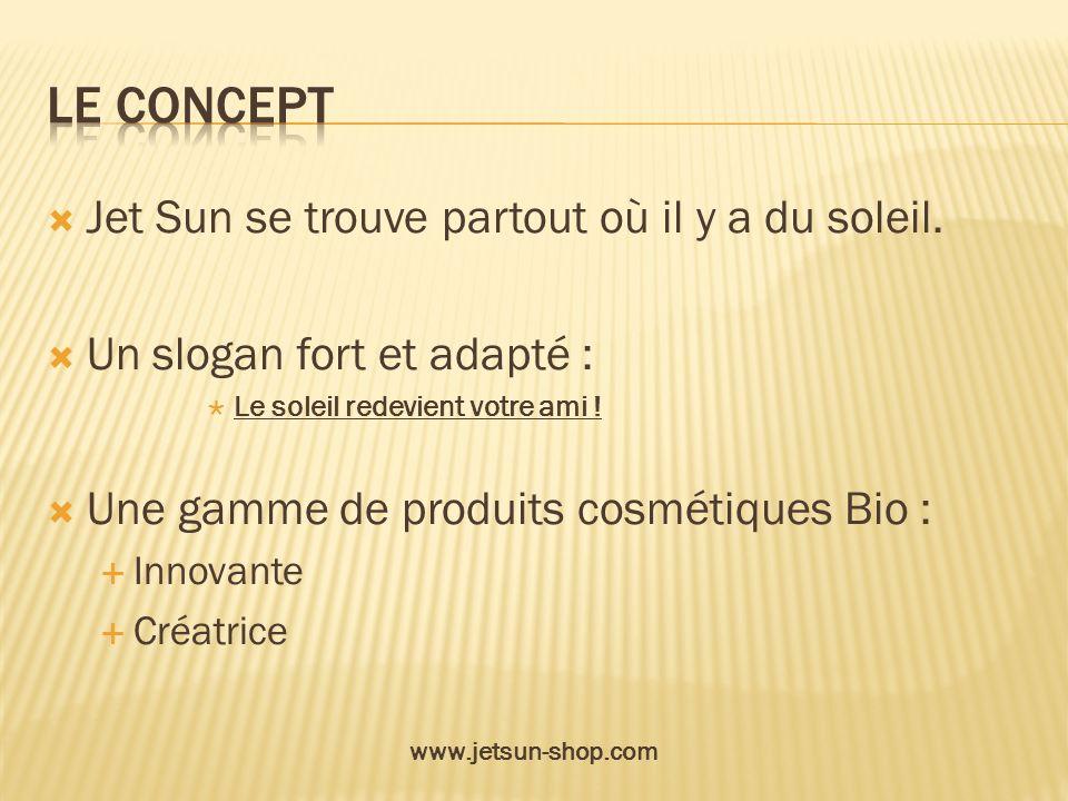 Le concept Jet Sun se trouve partout où il y a du soleil.