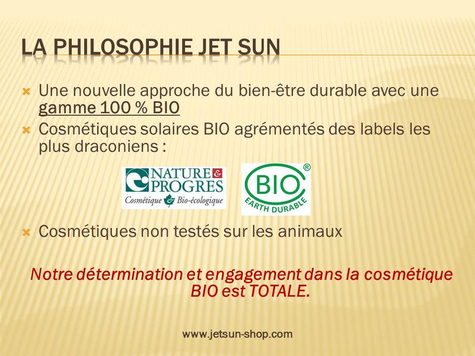 Notre détermination et engagement dans la cosmétique BIO est TOTALE.