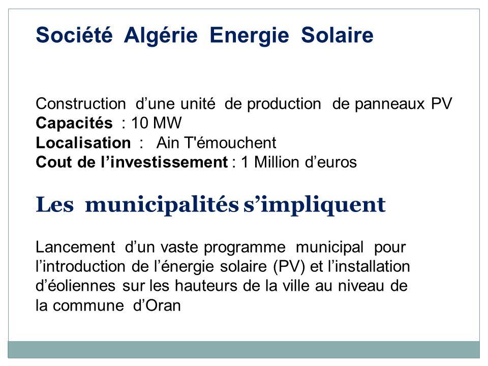 Société Algérie Energie Solaire