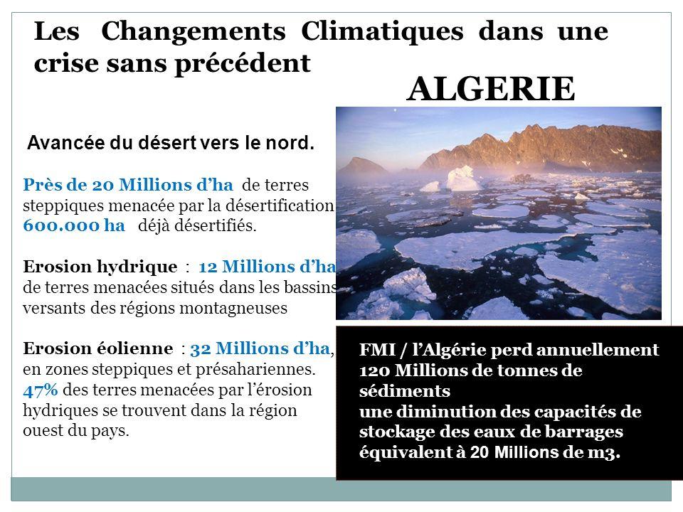 ALGERIE Les Changements Climatiques dans une crise sans précédent