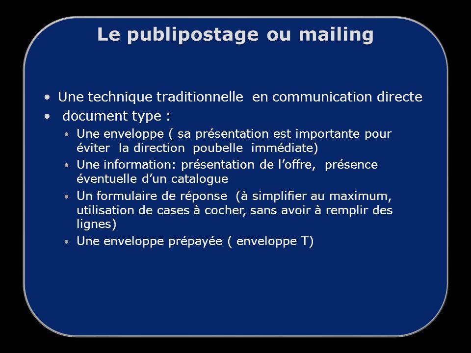 Le publipostage ou mailing