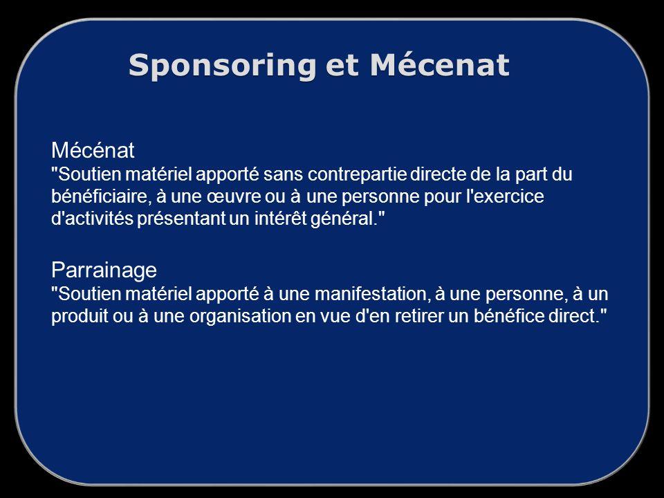 Sponsoring et Mécenat