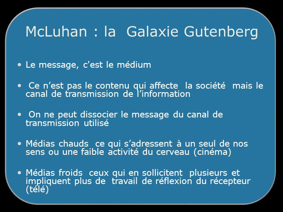 McLuhan : la Galaxie Gutenberg