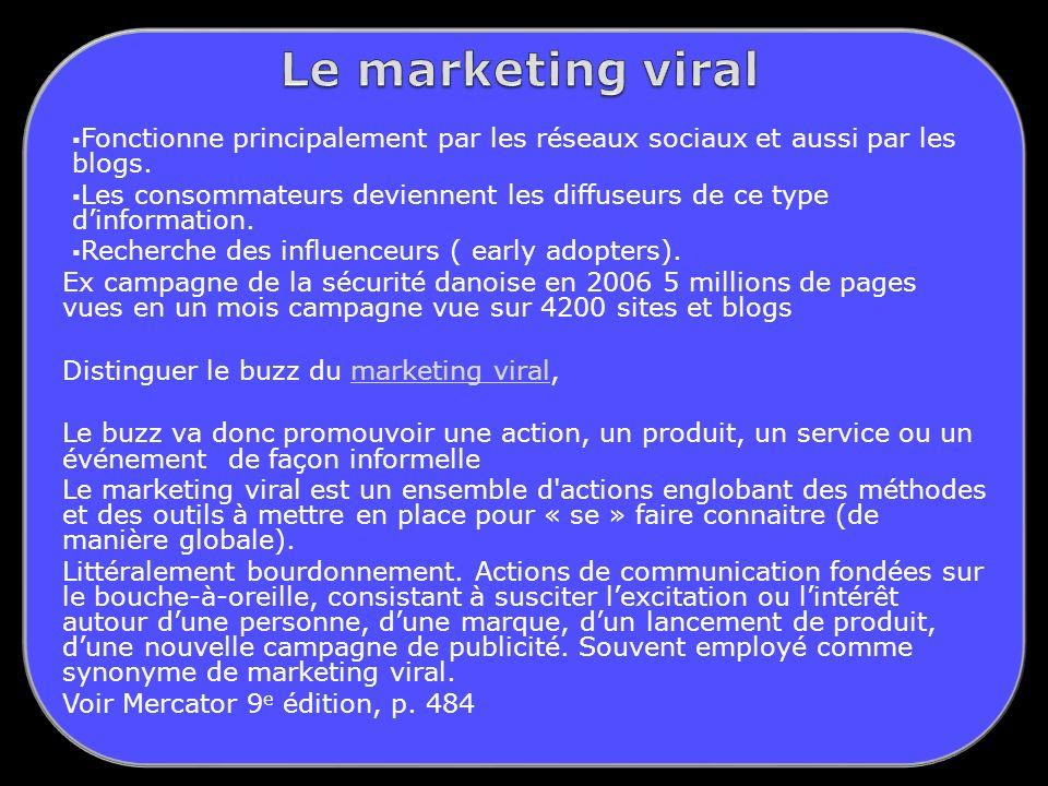 Le marketing viral Fonctionne principalement par les réseaux sociaux et aussi par les blogs.