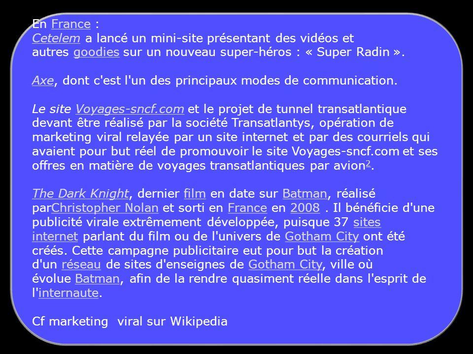 En France : Cetelem a lancé un mini-site présentant des vidéos et autres goodies sur un nouveau super-héros : « Super Radin ».