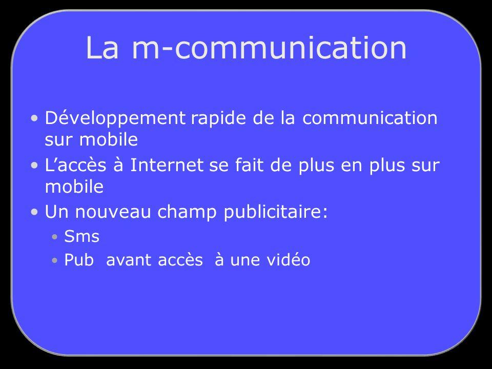 La m-communication Développement rapide de la communication sur mobile