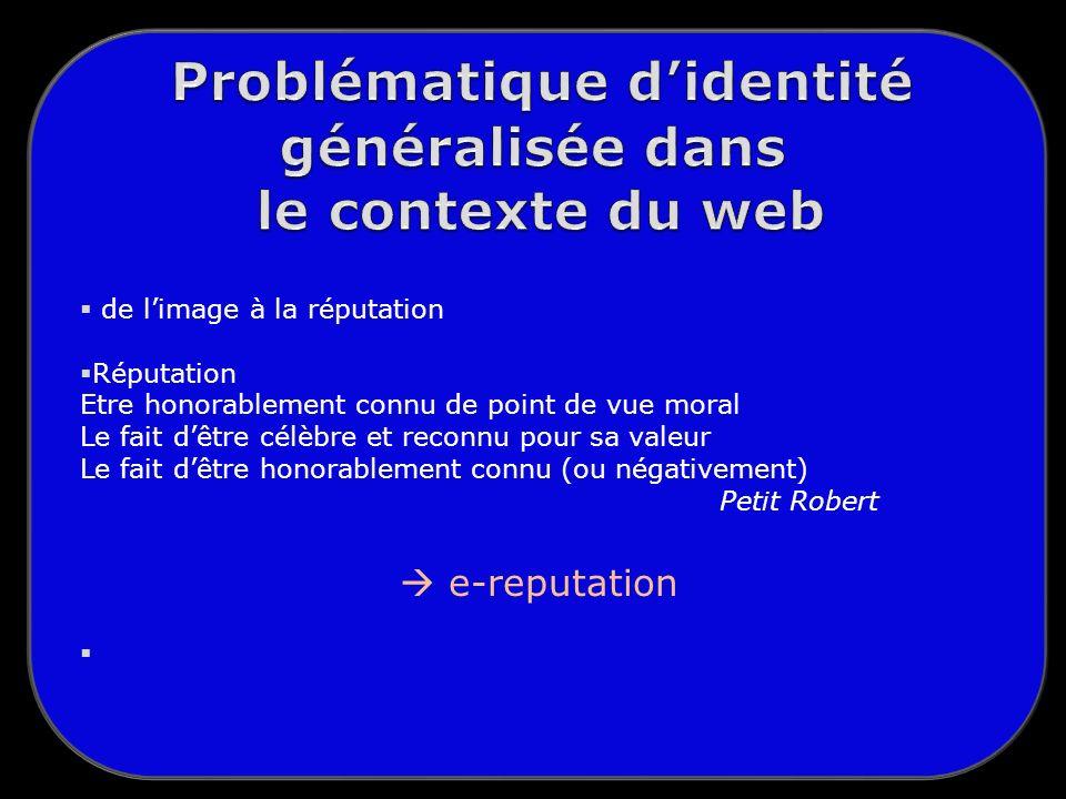 Problématique d'identité généralisée dans le contexte du web
