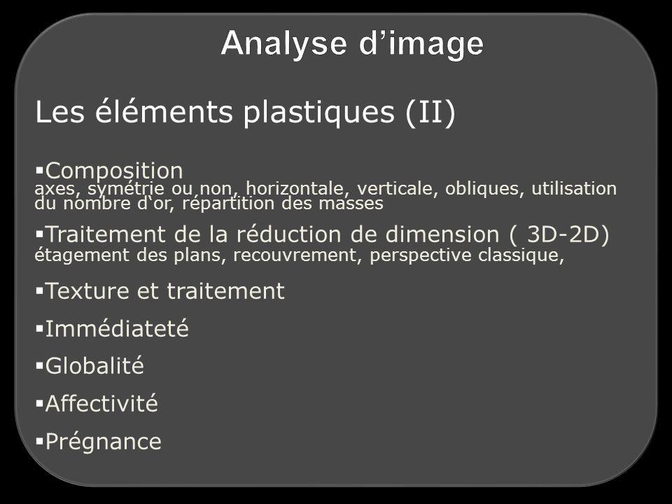 Les éléments plastiques (II)