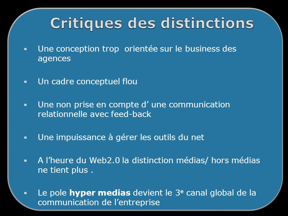 Critiques des distinctions