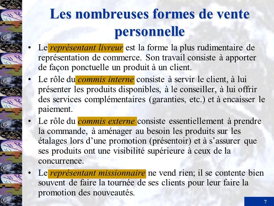 Les nombreuses formes de vente personnelle
