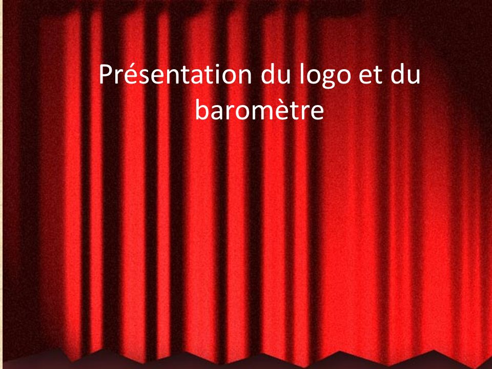 Présentation du logo et du baromètre