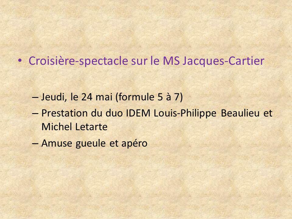 Croisière-spectacle sur le MS Jacques-Cartier