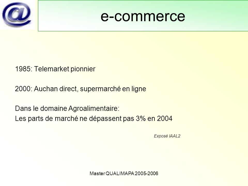 e-commerce 1985: Telemarket pionnier