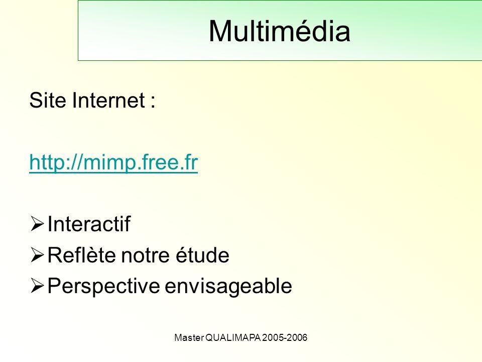 Multimédia Site Internet : http://mimp.free.fr Interactif
