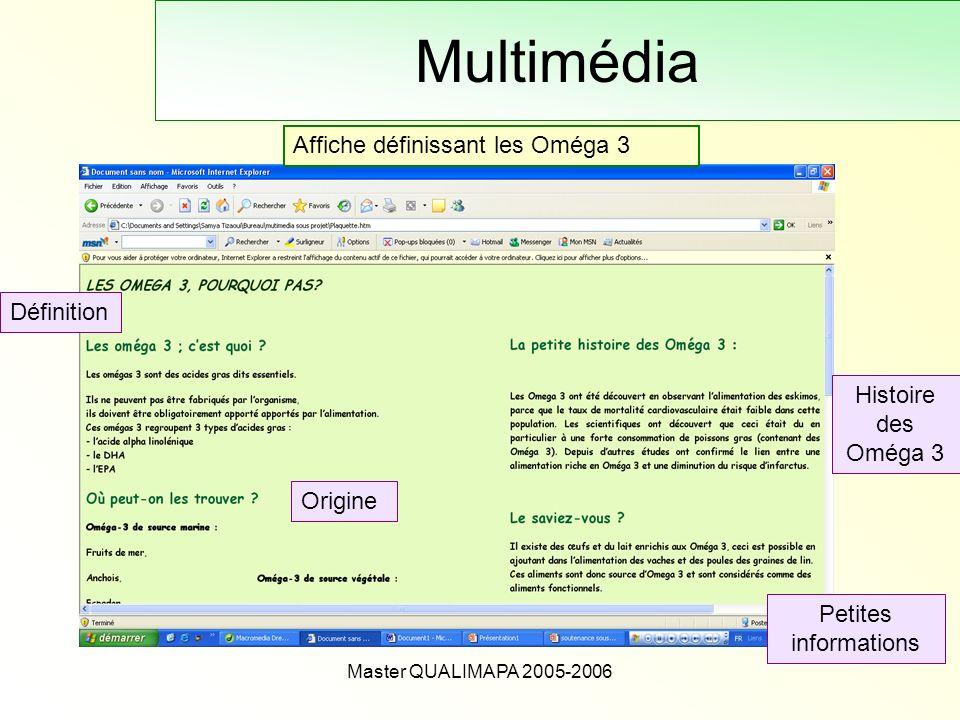 Multimédia Affiche définissant les Oméga 3 Définition