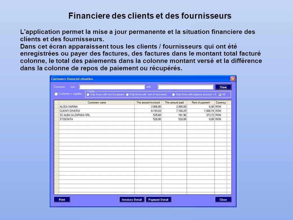 Financiere des clients et des fournisseurs
