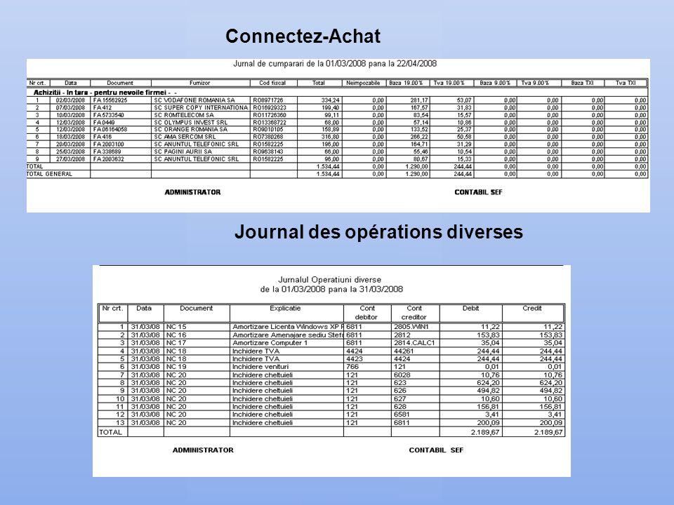 Journal des opérations diverses