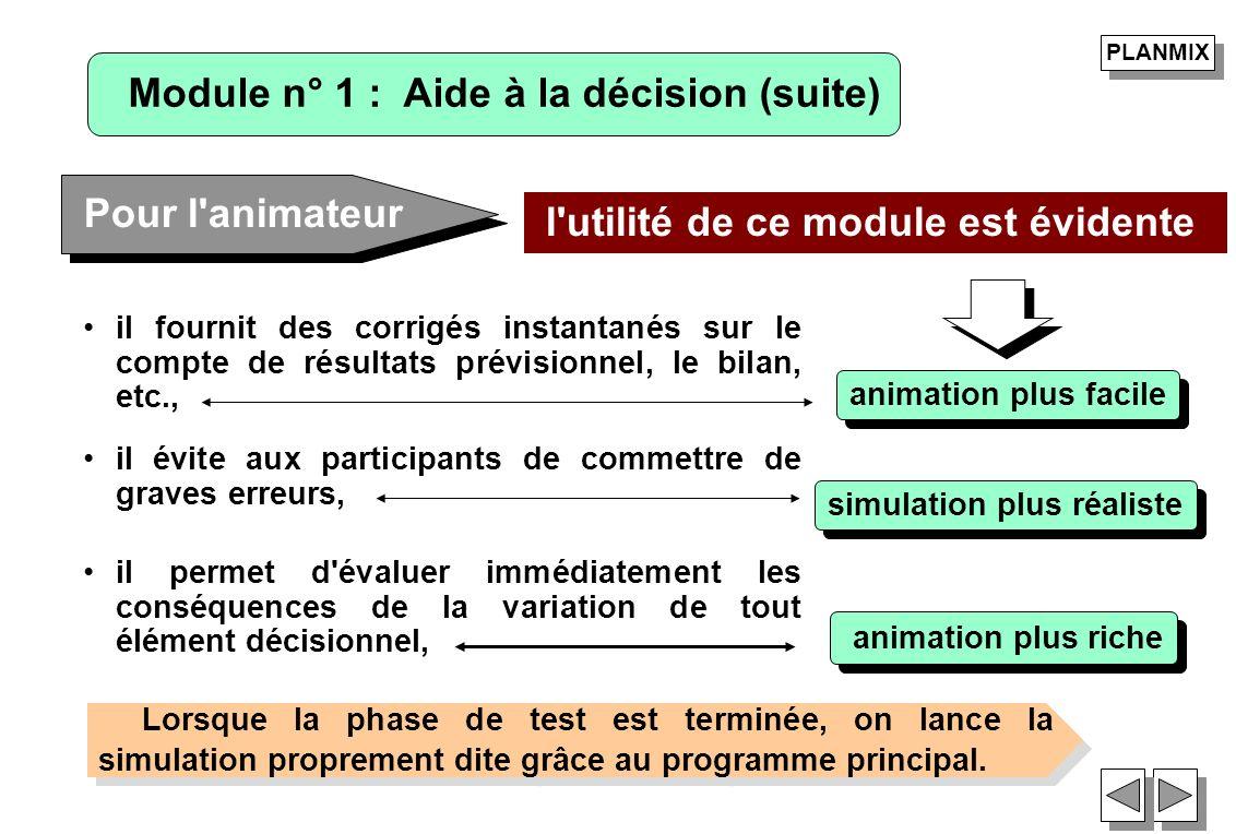 Module n° 1 : Aide à la décision (suite)