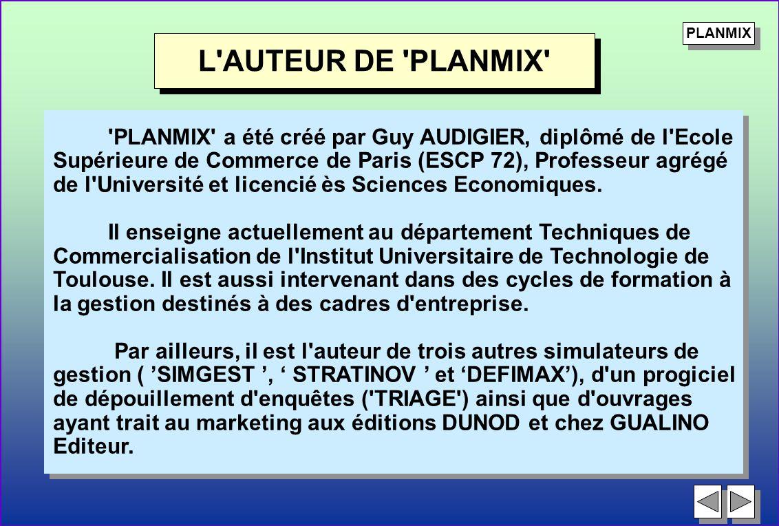 PLANMIX L AUTEUR DE PLANMIX