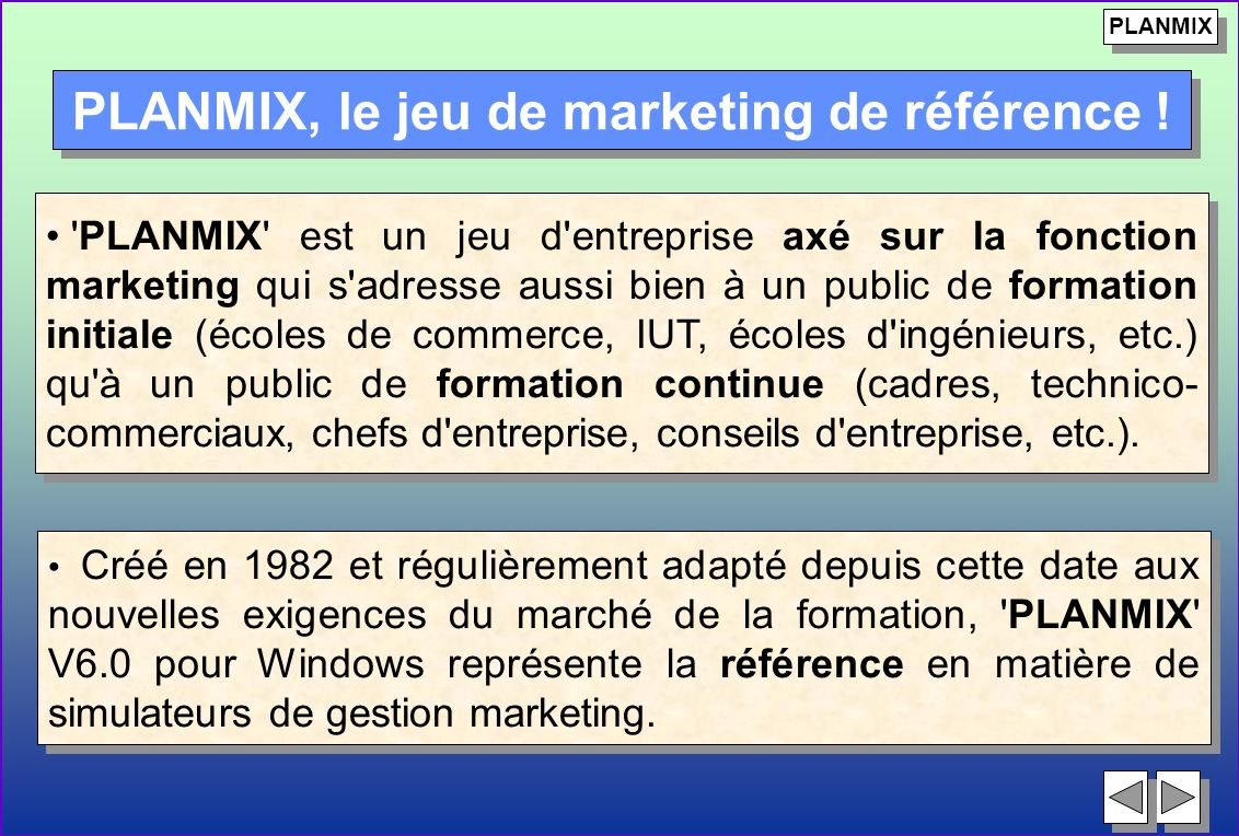 PLANMIX, le jeu de marketing de référence !
