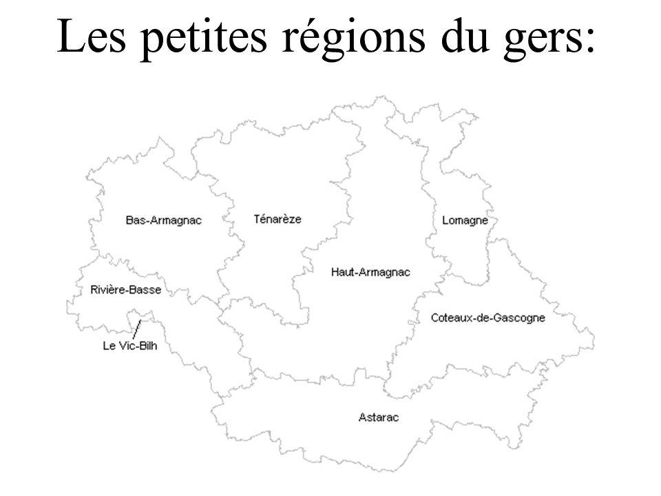 Les petites régions du gers: