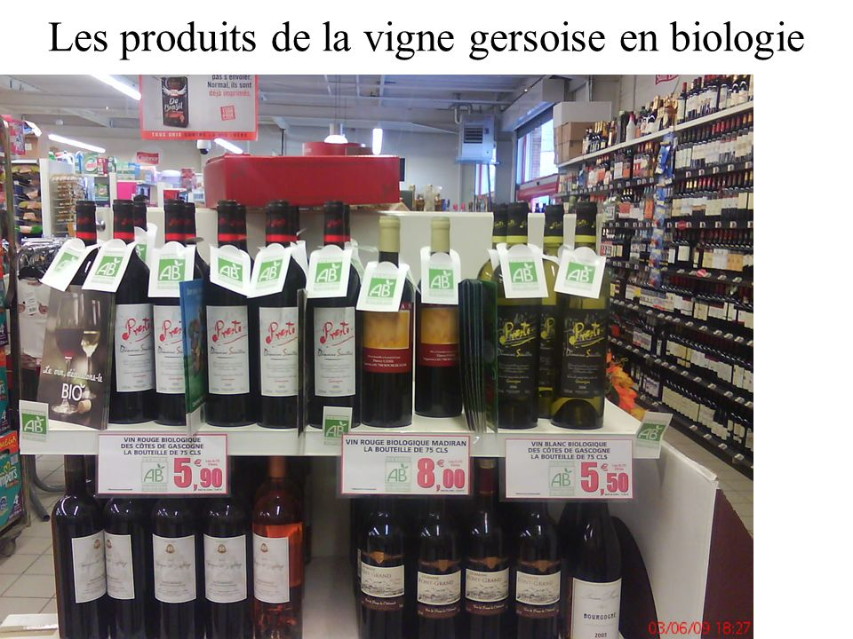 Les produits de la vigne gersoise en biologie