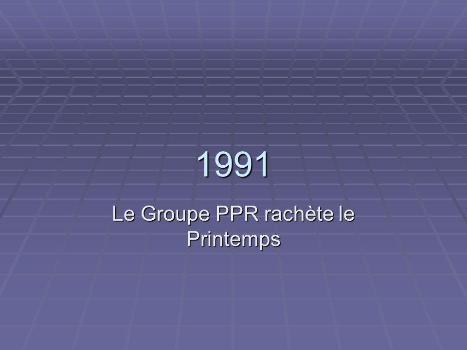 Le Groupe PPR rachète le Printemps