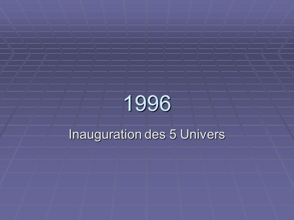 Inauguration des 5 Univers