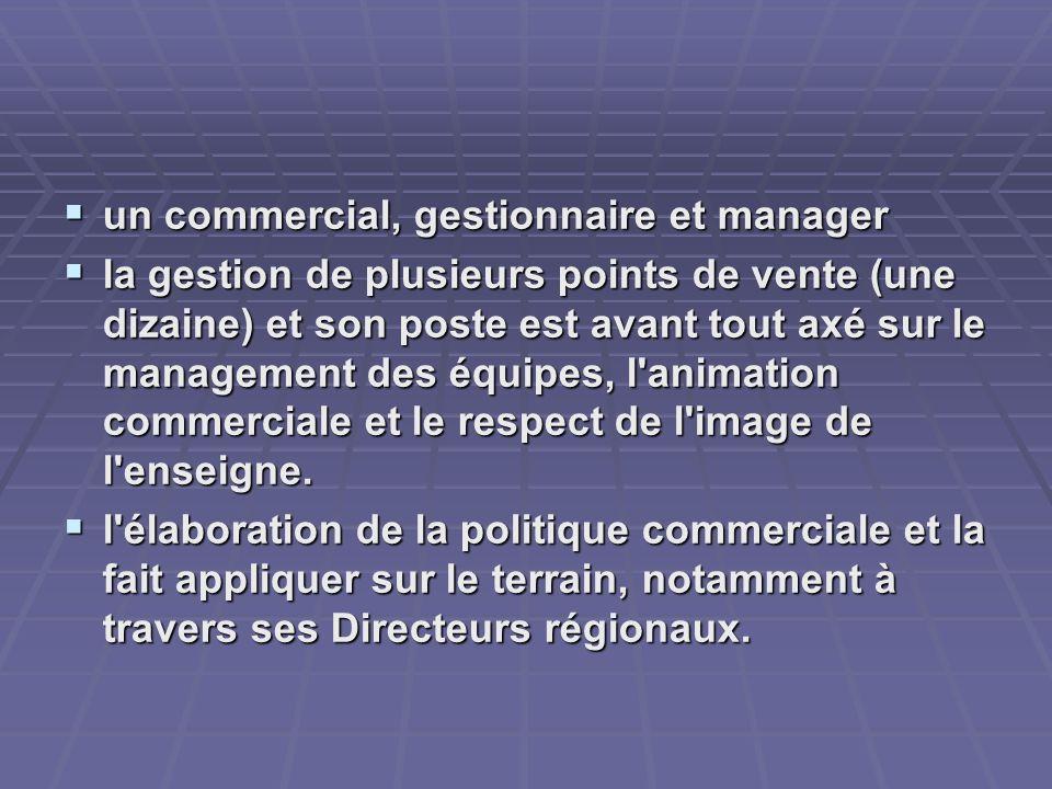 un commercial, gestionnaire et manager