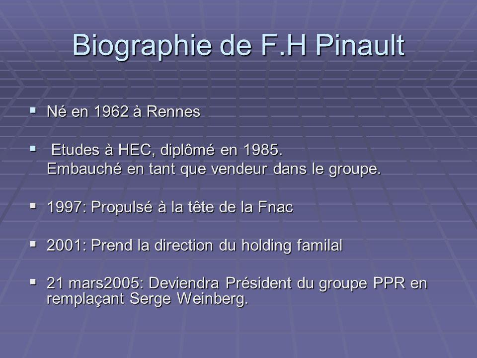 Biographie de F.H Pinault
